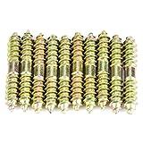 10 unids 6 * 40mm Tornillo de Espiga Doble Acabado autorroscante Tornillos Roscados Carpintería Muebles Conector Varillas Barras Espárragos