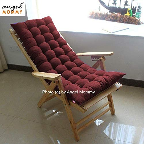 Angel Mommy Extra Premium Rocking Chair Cushions Non Slip Sofa Bench Home Garden Cushions Pack Of 1 48 X18 Inch Maroon