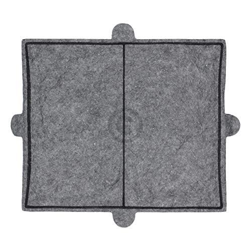 DL-pro Aktivkohlefilter 288x242mm passend für Miele 6228731 DKF12-1 Kohlefilter Filter Geruchsfilter für Dunstabzugshaube Abzugshaube Dunstabzug Dunsthaube