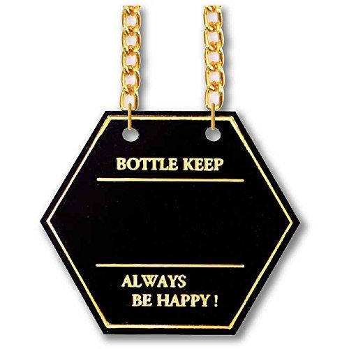 ボトルキーパー(六角)【BM-4(10枚入)】ブラック[シンビ ボトルキープタグ ボトル札]