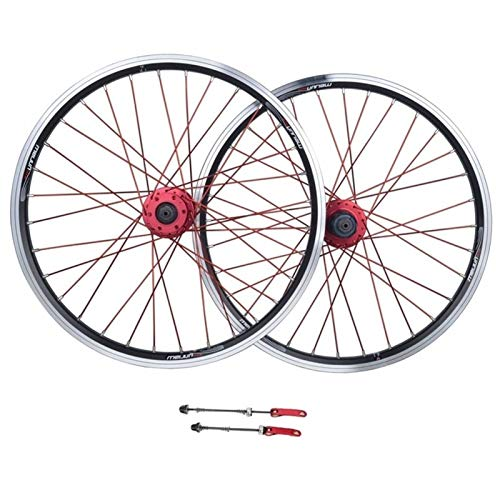 ZCXBHD 26 Inch Mountain Bike Wheelset Disc/V Brake Aluminum Alloy Bicycle Front Rear Wheel 8/9/10/11speed Quick Release 32 Hole (Color : Black)