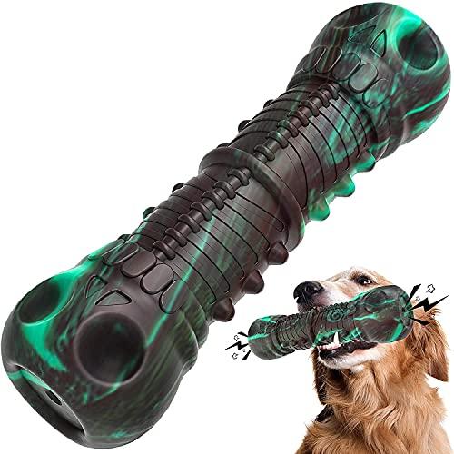 Aina Juguetes para perros, Indestructible Resistente Chirriante Perro Masticar Juguete Para Masticadores Agresivos Grande Medio Raza Perro Cepillo de Dientes Cuidado Dental