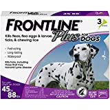 FRONTLINE Plus Flea and Tick Treatment for Dogs (Large Dog, 45-88 Pounds, 3 Doses)