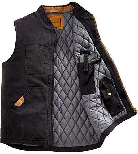 Venado Concealed Carry Vest for Men - Heavy Duty Canvas - Conceal Carry Pockets… (X-Large)