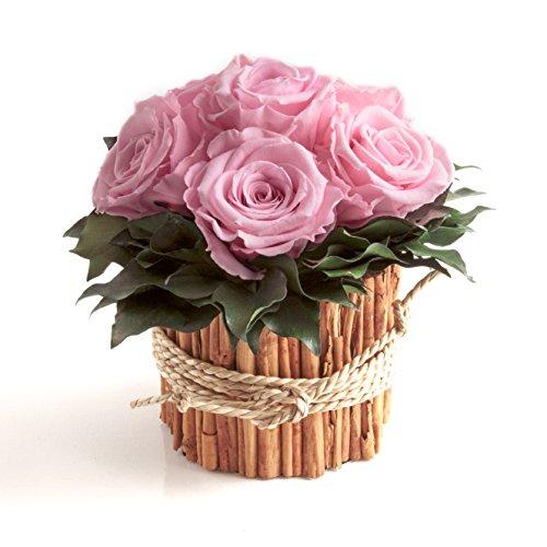 Rosengesteck 6 konservierte Rosen lang haltbar 3 Jahre/Blumengesteck/Bauernhaus/Blumen Deko/Tisch von ROSEMARIE SCHULZ® Heidelberg (Rosa)