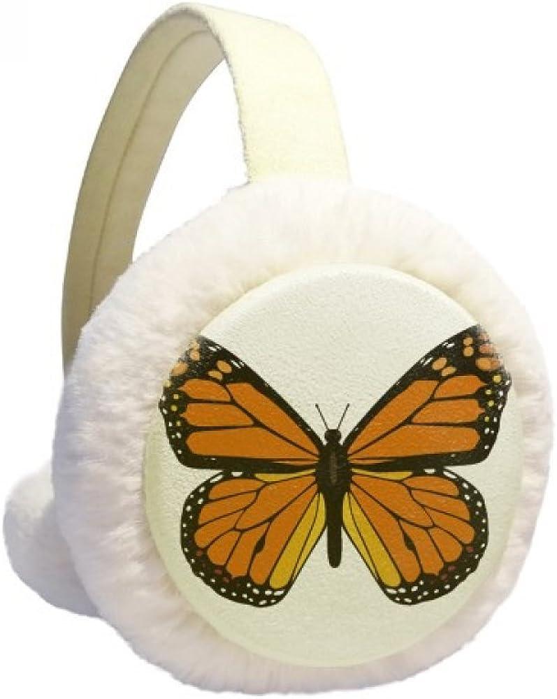 Butterfly Specimen in Orange Winter Ear Warmer Cable Knit Furry Fleece Earmuff Outdoor