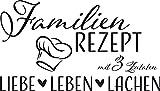 GRAZDesign Wandtattoo Familien-Rezept mit Kochmütze - Familientattoo als Wand-Deko für...