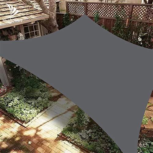 DAMAI Vela De Sombra Rectangular, Toldo Impermeable Protección Solar con 4X Cuerdas De Fijación para Jardín Patio Exteriores,3x4m