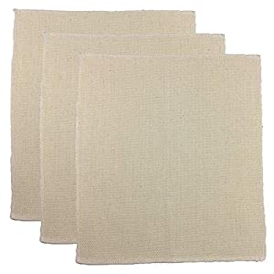 ZX VISION 3 Pieces Linen Needlework Fabric, Monk's Cloth 11''x11'' for Rug-Punch Needles & Pinch Needle(Set of 3)