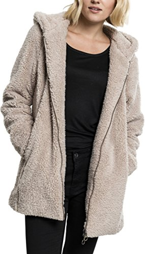 Urban s Damen Ladies Sherpa npullover Regular Fit Kapuzenpullover, sand, L