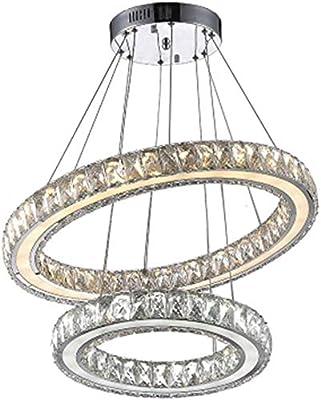 Blanc chaud HENGMEI 72W Lustre de Cristal LED Suspension LED Luminaire de Salle /à manger Eclairage de plafond