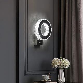Comely Applique Murale LED Intérieure, Lampe Murale en Cristal, 12W Lumière Blanche Froide 6000K Design Moderne Décoration...