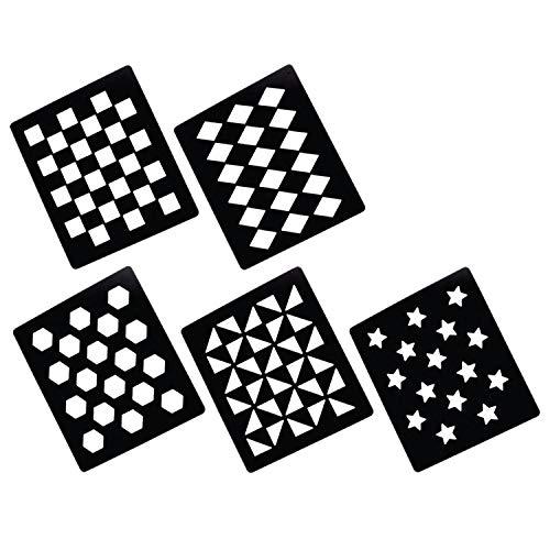LINCOLN Muster-Schablonen (5 Stück) (Einheitsgröße) (kann variieren)