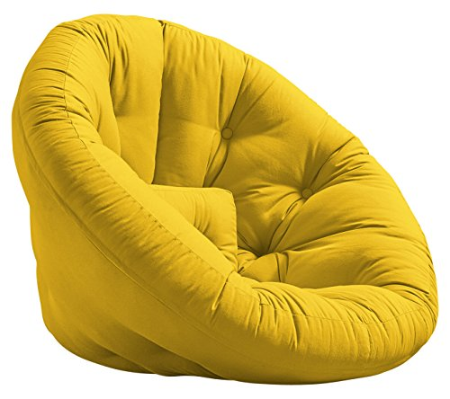 KARUP Nido Futon Chair Sedia, Cottone/Poliestere, Amarillo 748, 85x90x75 cm