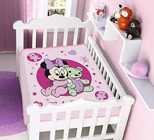 Cobertor Raschel Poliester Disney Minnie Ursinho Jolitex Multicor Infantil Poliéster
