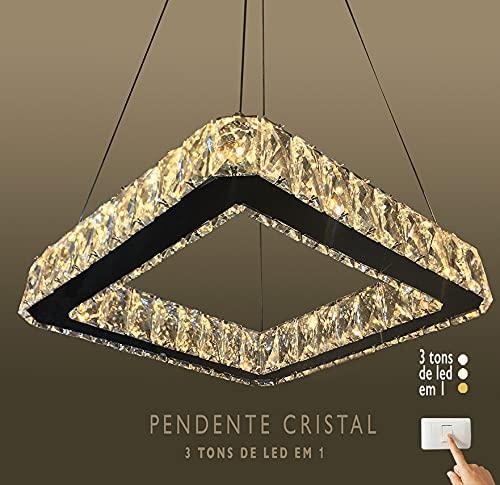 Lustre Pendente de Cristal k9 Transparente (A29037/350-T)