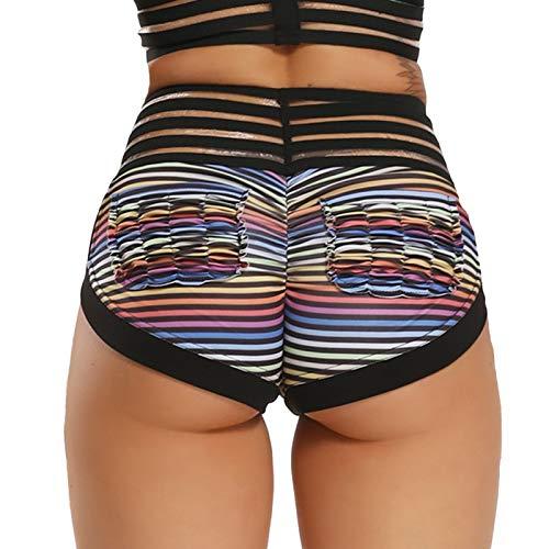Pantalones Cortos De Mujer - Pantalones Cortos De Fitness De Verano De Moda Para Mujer Bolsillo Plegable Con Estampado Floral Pantalones Cortos De Yoga Pantalones Cortos Deportivos De Cintura Alta H