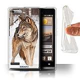 Hülle Für Huawei Ascend P6 Mini Wilde Tiere Wolf Design