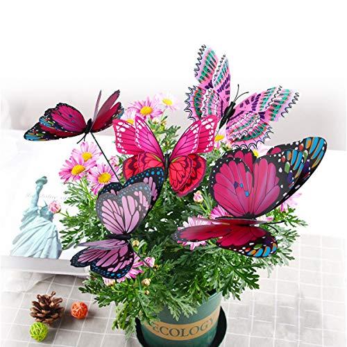 10 Piezas Mariposas en Varillas Para Decoración de Jardín, Mariposas