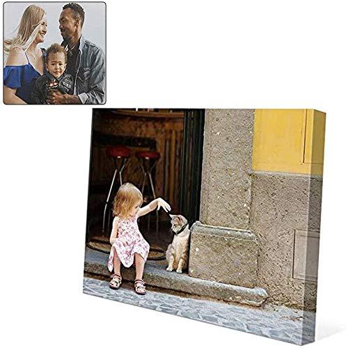 NEWPITE Stampa su Tela Personalizzata la Tua Foto, Personalizza Le tue Foto su Stampe su Tela, Foto su Tela Personalizzata Stampe su Tela Personalizzate (Horizontal Direction,30 * 40cm)