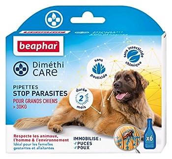 Beaphar - DiméthiCARE pipettes stop parasites - grand chien (>30kg) - 6 pipettes
