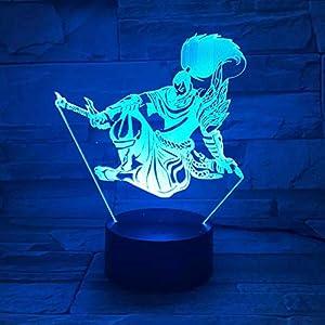 Heros Led Night Light Touch Sensor 7 Color Changing Child Kids The Unforgiven 3D Table Lamp Bedroom