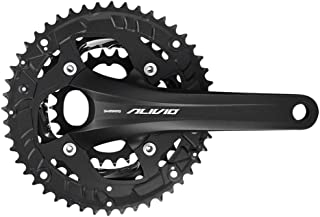 SHIMANO Alivio FC-T4060 44/32/22 9-Speed Holllowtech II 175mm Crankset Without Bottom Bracket, Black