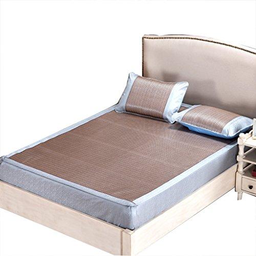 shi xiang shop Sofá de Verano Plegable Plegable Almohadilla de Aire Acondicionado Lisa Seda de Hielo Engrosada de Tres Piezas (Color : C, tamaño : 1.5m (5 ft) Bed)