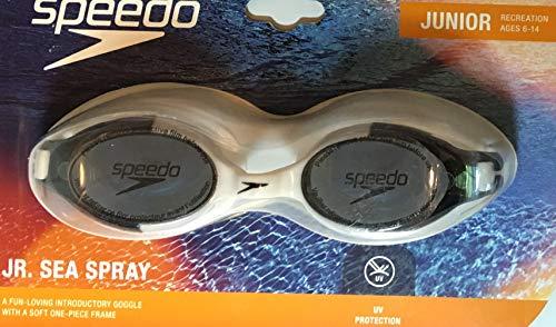 Speedo Jr. Junior Sea Spray Goggle: Black and White