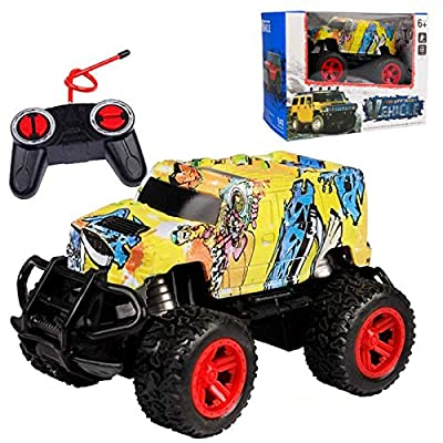Amazon - Save 70%: Wireless Four-Way Remote Control Off-Road Vehicle Model Graffiti Toy Car (A)