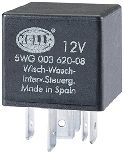 Hella 5WG 003 620-081 relais, was-interval, 12 V