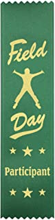 Field Day Participant Ribbons: 100 Count Value Pack Metallic Gold foil Print – Made in The USA