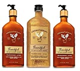 Bath and Body Works Aromatherapy THANKFUL FRANKINCENSE MYRRH Value Pack - 2 Body Lotion 6.5 oz and 1 Body Wash Foam Bath 10 oz - Full Size