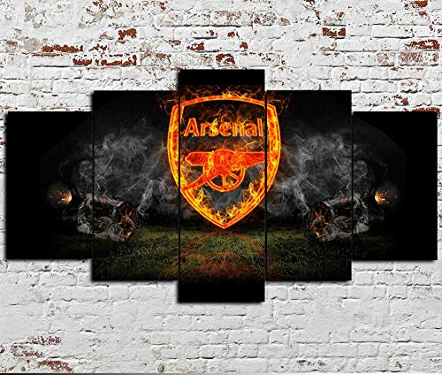 HJYR 5 Pieces Modern Canvas Painting Wall Art for Home Decoration Large Framed Arsenal Print On Canvas Giclee Artwork for Wall Decor