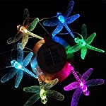 KUAHAIHINTERAL Solar Power Wind Chime Light Spiral Spinner Decorative Mobile Waterproof Outdoor Romantic Wind Bell Light… 4