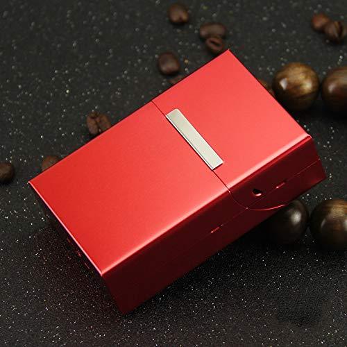 AFD Czz Zigarettenetui, Kann 20 Zigaretten Halten, Metall Tragbare Flip-Cover, Ultra-Dünn,D,Zigarettenschac