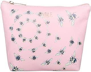 Fable Womens/Ladies Vintage Bee Print Makeup Bag