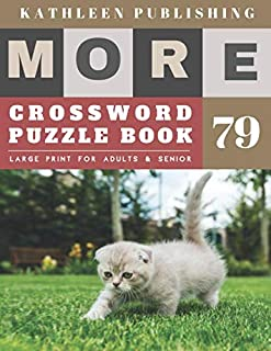 Crossword Puzzles for Seniors: cool crossword puzzles for adults   More Large Print Crosswords Game    Hours of brain-boosting entertainment for ... senior gifts for men (crossword books quick)