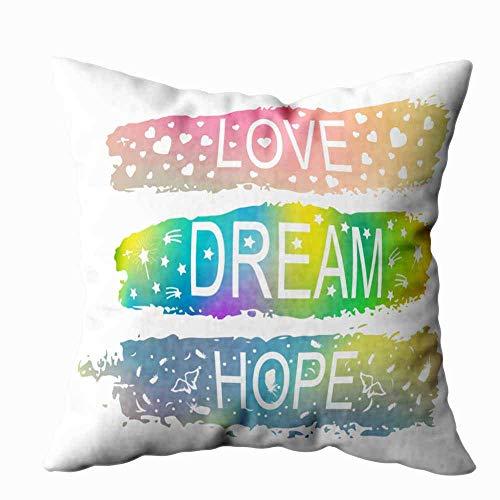 Funda de almohada para el hogar, 50,8 x 50,8 cm, frases con eslogan del fondo, tarjetas postales, impresiones para decoración, fundas de almohada con cremallera, fundas de cojín para sofá cama