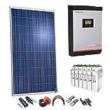 Kit Solar 24v 1000w/5000w día Inversor Multifunción 3kva Regulador PWM 50A Batería 4TOPzS 458Ah
