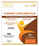 Turmeric Curcumin Anti Inflammatory Patches - Joint and Arthritis Pain Relief – All Natural - High Potency Absorption– USA Made by Live To Shine