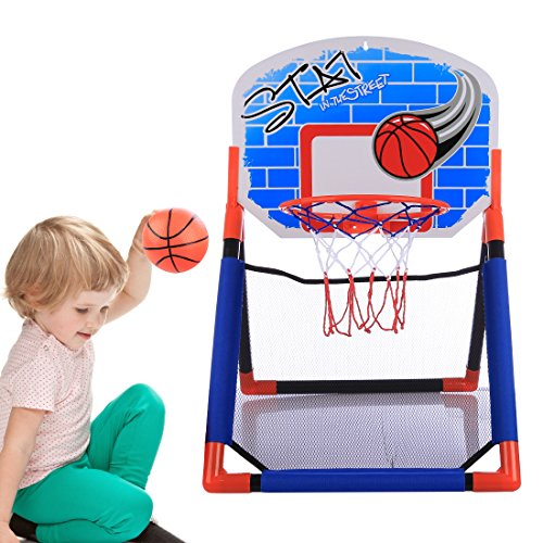 Seciie Basketballkorb für Kinder, Stabiler Basketballkorb mit Ständer Basketballständer Backboard Ständer Hoop Set für Kinder ab 3