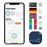 musegear® Schlüsselfinder mit Bluetooth App aus Deutschland I Maximaler Datenschutz | dunkelblau...