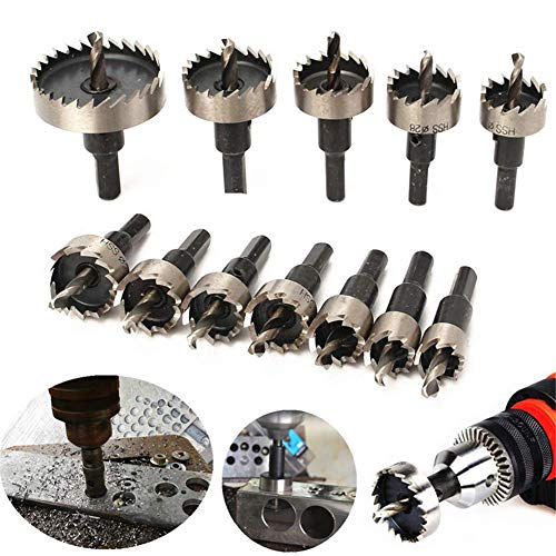 13Pcs Stainless Steel Hole Saw Kit