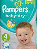 Pampers Baby Dry Lot de 120 couches Taille 4