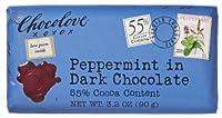 Chocolove B30392 Chocolove Peppermint In Dark Chocolate -12x3.2oz