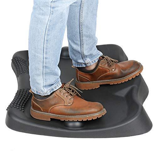 Sokiss Standing Desk Mat| Not-Flat Standing Desk Anti-Fatigue Mat with Movebale Foot Massage Ball | Ergonomic Design Comfort Office Floor Mat
