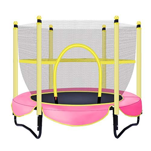 JYTTCE Kindertrampoline, veilige binnentrampoline, rechte voet met pvc-bescherming, kindersport en fitness, bestand tegen 100KG yoga-benodigdheden trampoline roze
