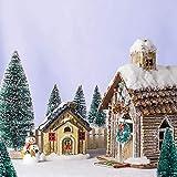 MELLIEX 60 Stück Miniatur Weihnachtsbaum Künstlicher Mini Modell Weihnachtsbaum Kunststoff Winter Ornamente für Tischdeko, DIY, Schaufenster - 6