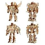 Auveach Puzzle Legno 3D Robot Artigianato Kit Assemblaggio Fai-da-Te Giocattoli Modello Ro...